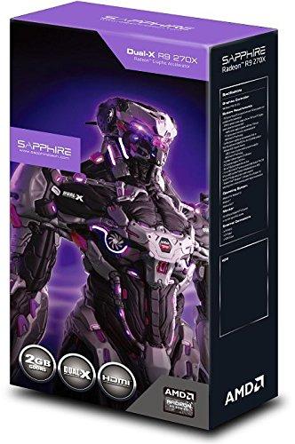 Sapphire 270X 11217-01-20G Dual-X Radeon R9 ATI Grafikkarte (PCI-e 3.0, 2GB GDDR5-Speicher, 2x DVI, HDMI, DisplayPort, 1020MHz GPU)