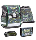 Belmil Set de mochila y accesorios escolares de camuflaje 403-13.