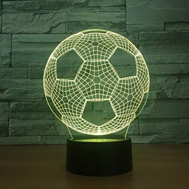 Laofan 3D Led Nachtlicht 3D Illusion Lampe USB Tischlampe Schlafzimmer Touch 7 Farben ndern Atmosphre Lampe,Fernbedienung