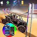 Taolook 4ft 5050 Led Whip Lights for UTV ATV with Flag