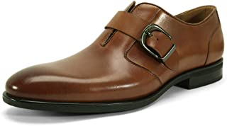 Monk Strap Slip-on Loafers for Men - Plain-Toe Business Oxford Dress Shoes, Single Buckle Casual Shoes