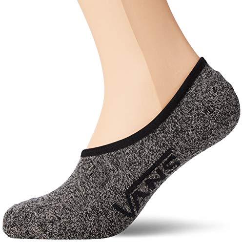 Vans Classic Super No Show 3 Pair Pack, Black Heather, Sock Size 9-11 (Men's Shoe 6.5-9)