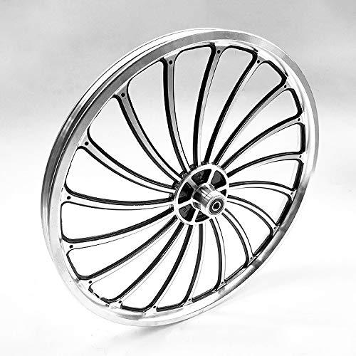 Llanta de aleación de ruta bici plegable de aluminio Set 20' freno de disco 18 radios modificación Integrado ruedas Eje roscado central Bici (rueda delantera de la rueda trasera +) ( Color : Black )