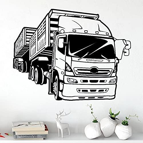 Zdklfm69 Pegatinas de Pared Adhesivos Pared Pegatina camión Vinilo Coche de Carreras Arte Mural casa Sala de Estar Garaje Interior Cartel decoración 42x54cm