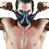 FDBRO Máscaras máscaras de Deportes, Estilo Negro, máscara;scara para Entrenamiento y acondicionamiento de Gran altitud, máscara scara Deportiva 2.0 (Fibra de Carbono, Medium(70kg-100kg))