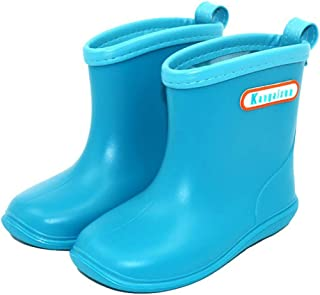 Kapmore Kids Rain Boots Anti-skid Lightweight Rain Shoes Easy to Clean Rubber Boots