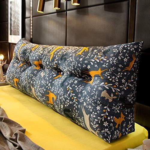 LFOZ Cojín de respaldo de Tatami de impresión triangular con cuña para lectura, sofá o cabecero, cojín de apoyo lumbar (color: N, tamaño: 120 x 23 x 50 cm)