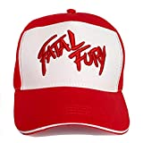 Gamusi Fatal Fury Unisex Baseball Cap Terry Bogard Hat The King of Fighters Cap Adjustable Size for Adults (Red-Embroidery)