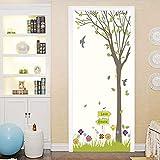 DFKJ Frische Art grüne Baum Tür Aufkleber Wohnzimmer