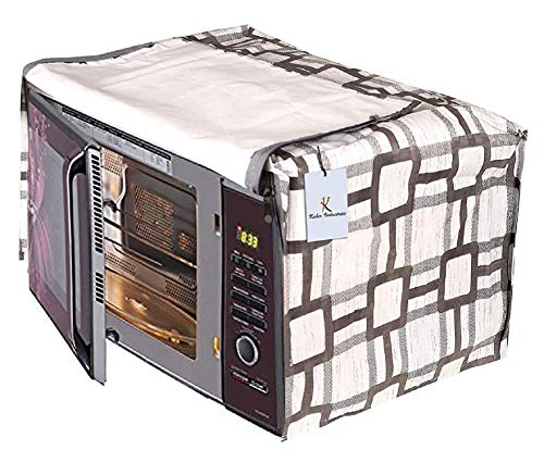Kuber Industries Checkered Design PVC Microwave Oven Full Closure Cover for 23...