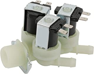 Electric Solenoid Valve 3 Way Water Inlet N/C Normal Closed Electric Washing Machine Solenoid Valve Plastic AC 220V G3/4