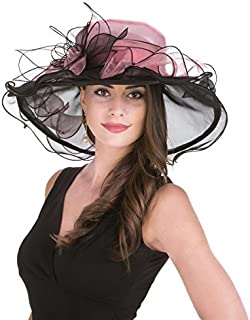 SAFERIN Women's Organza Church Kentucky Derby Fascinator Bridal Tea Party Wedding Hat