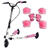 Sungle Monopattino a 3 ruote per bambini Scooter pieghevole e con altezza...