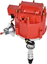 A-Team Performance Complete HEI Distributor 65K Coil 7500 RPM Compatible With Chevrolet Chevy GM GMC 4.3L 262 V6 EFI to CARB SWAP 90° V-6 One Wire Installation Red Cap