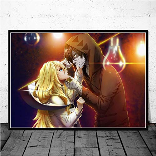 WDQFANGYI Angels of Death Poster Anime su Tela Pittura Poster E Stampe Immagine della Parete per Soggiorno Complementi Arredo Casa 50X70 Cm (FLL3350)