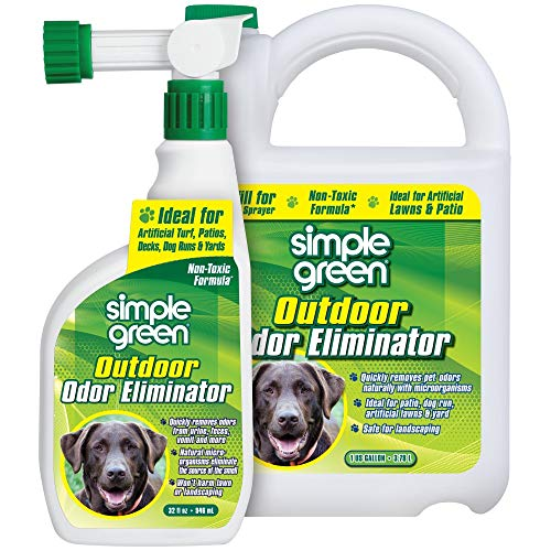 Simple Green Outdoor Odor Eliminator for Pets, Dogs, Ideal for Artificial Grass & Patio (32 oz Hose...