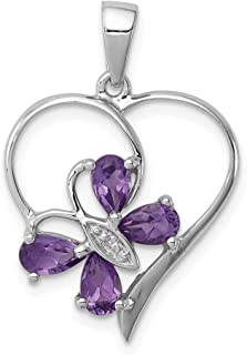 Best purple amethyst heart pendant Reviews