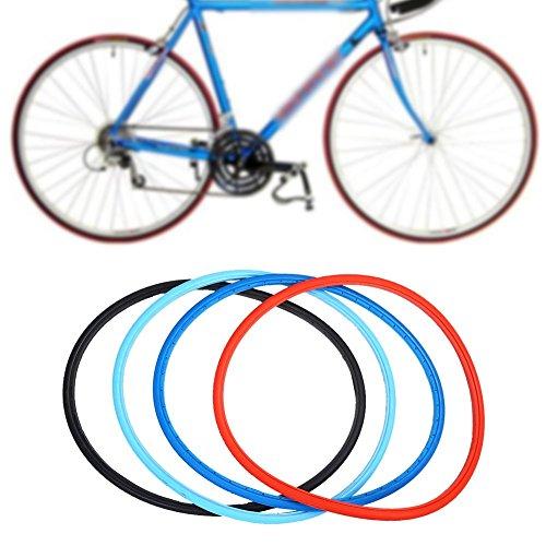 Neumáticos sólidos del neumático de la Bici de 700 x 23c Neumáticos de la Bici del Camino Bicicleta de la Manera Que Completa un Ciclo los neumáticos sólidos del Montar a Caballo sin Ruedas(Rojo)