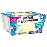 Nestlé Bébé P'tit Gourmand Crème de Riz au Lait - Laitage dès 6 mois - Lot de 4