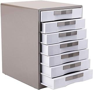 KANJJ-YU Dépôt tiroirs à sept couches de verrouillage métal de bureau Classeur de données armoire à tiroirs de stockage du...