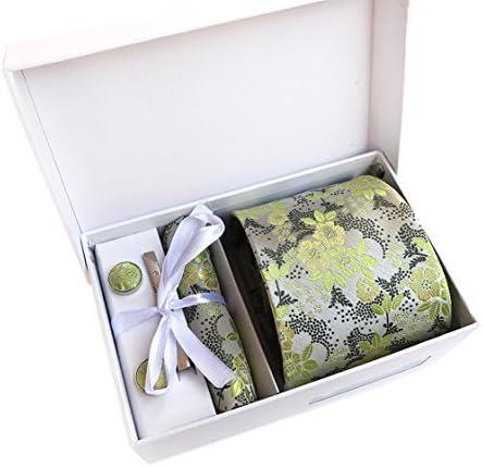 Mens Max 51% OFF Formal Polyester Silk Tie Squ overseas Necktie Pocket Set Cufflinks