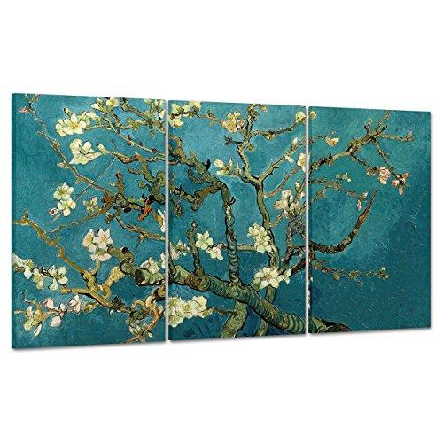 ConKrea Quadro su Tela Canvas - INTELAIATO - Pronto da Appendere - Van Gogh - Ramo di MANDORLO Fiorito - 100x50cm (cod.296)
