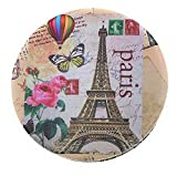 Value Arts Purse Compact Travel Makeup Mirror and Magnification, Eiffel Tower Postcard from Paris, 2.8 Inches Round