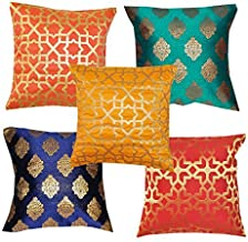 Vireo- Dupian Silk- Cushion Cover 16X16 inch-Set of 5