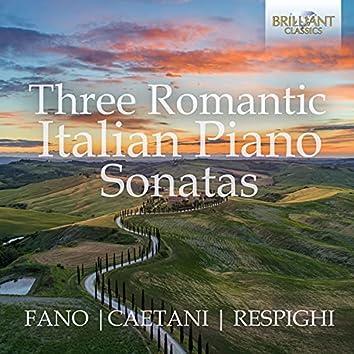 Three Romantic Italian Piano Sonatas