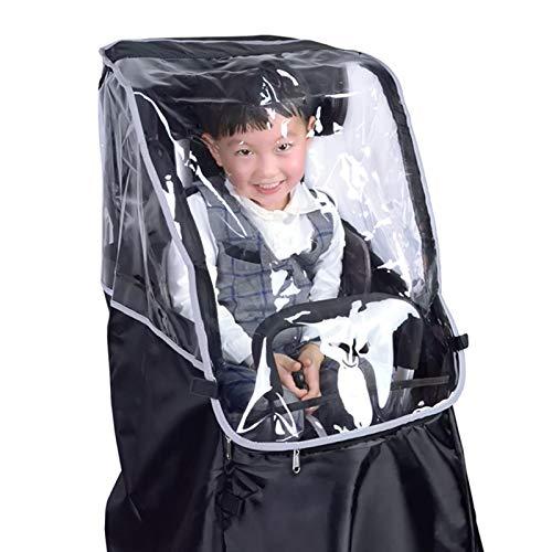 Foxlove Regenschutz Abdeckung Fahrradkindersitz Kindersitz Fahrrad Hinten Sicherheits-Kindersitz Für Hinten Regenschutz Für Kinderfahrradsitz Schmutz Und Regen, Einfache Aufbewahrung, Schadstofffrei