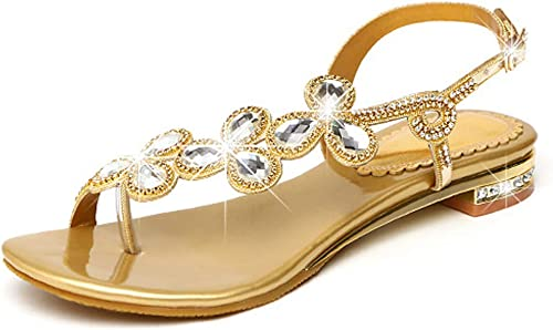 AQOOS Femmes Talon Bas Slingback Sandales Sandales Sandales Dansant Fete Bout ouvert Sandales 66a