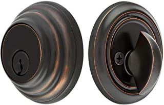 Solid Brass Single Cylinder Low Profile Deadbolt Oil Rubbed Bronze with 2 3/4