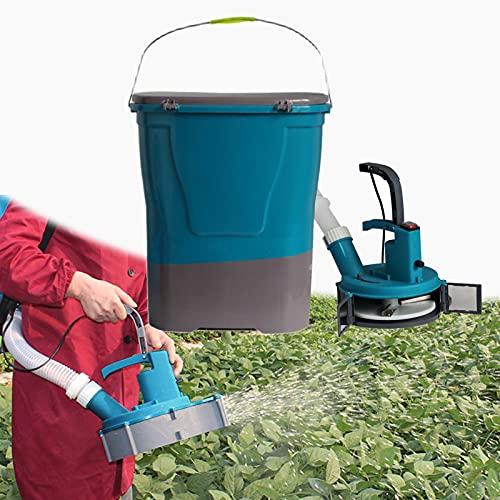 BJYX Esparcidor a Cuestas, 24L Esparcidor de Fertilizante Eléctrico Portátil Multifuncional para Tierras Cultivo Campo Arroz Césped Huerto Estanque Peces Granja Cría