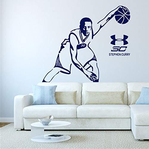 Tapete Basketball Stephen Curry Raumdekor Wandaufkleber Fan Geschenk Poster Aufkleber Nba Master Man Abnehmbare Aufkleber 42 * 47cm