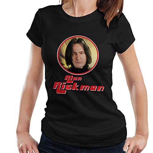 Alan Rickman Retro Photo Frame Women's T-Shirt