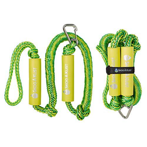Skog Å Kust Premium PWC Bungee Dock Lines 2-Pack: 4 & 6 Foot Lengths | Green & Yellow