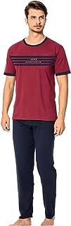 Ayans Men's Sleepwear T-Shirt and Pants Turkish Cotton Pajama Set Nightwear Loungewear Set Soft and Breathable