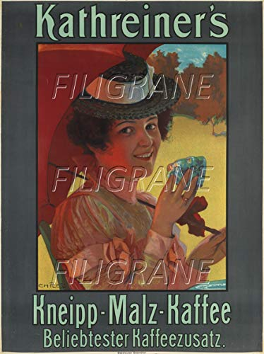 PostersAndCo TM Kathreiner's Kaffee Rhca-Poster/Kunstdruck 60 x 90 cm (*) 1 Poster Vintage/Retro