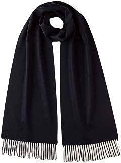 Unisex Plain Woven Cashmere Scarf - Dark Navy