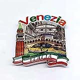 Imán para nevera de Venecia Italia, regalo de recuerdo 3D de resina para decoración del hogar y la cocina magnética