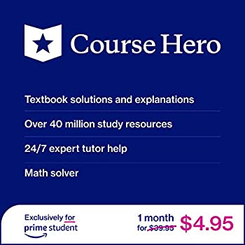 Course Hero 1-Month Textbook Solutions, 24/7 Expert Tutors & more