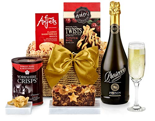 Clarendon Hamper With Sparkling Prosecco - Hand Wrapped Food Basket, in Gift Hamper Box