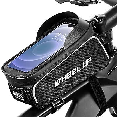 Bike Phone Frame Bag - Top Tube Bike Bag Bicycl...