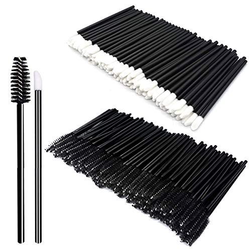 Kits de herramientas de maquillaje de 200 piezas Desechables Pincel para labios Pincel de maquillaje desechable Negro Pinceles de maquillaje diarios