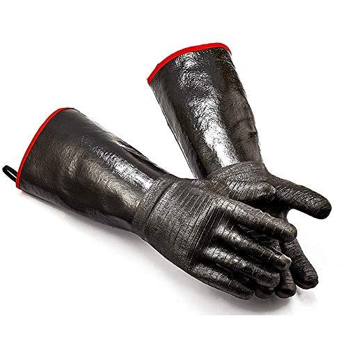 BPHMZ 2020 Grillhandschuhe - Grill, Kochen Barbecue Handschuhe, for Den Umgang Mit Wärme, Speisen Direkt Auf Ihrem Fritteuse, Grill Oder Ofen.Wasserdicht, Wärme Resista