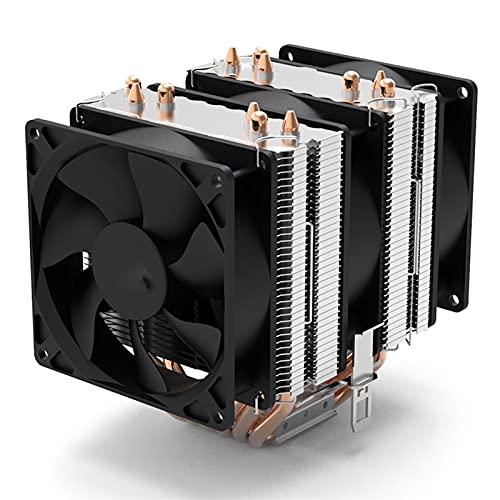 6 HEATPIPES RGB CPU Cooler PC Radiador de refrigeración 4Pin PWM 90mm Ventilador Intel 1150 1155 1156 1366 AM2 / AM3 / AM4 AMD (Blade Color : Gale No Light)
