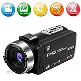 Caméscope Caméra Vidéo Full HD 1080P 30FPS 30.0MP Camescope IR Vision Nocturne 16X Zoom Caméra Vlogging avec Télécommande