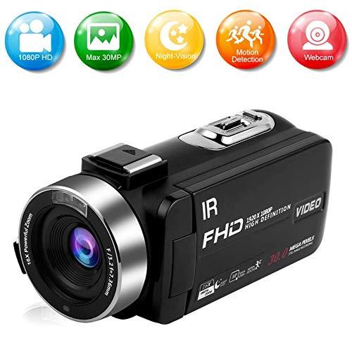 Cámara Digital Camara de Fotos 24MP Ultra HD 2.7K WiFi Camara Fotos 3.0 Pulgadas 180 Grados de rotación Flip Screen Camaras Digitales Linterna retráctil