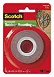 Scotch Permanent Outdoor Mounting Tape, Holds 5 lbs., 1 in. x 60 in