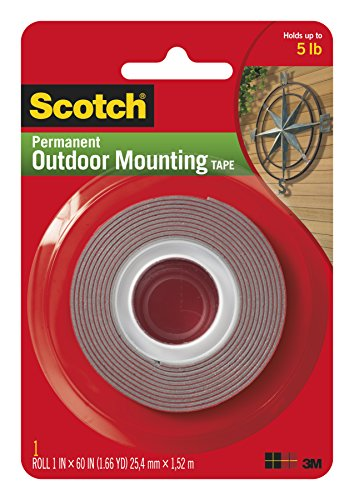 """Heavy-Duty Exterior Mounting Tape, Holds 5 lb., 1""""x60"""""""